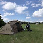 内山牧場キャンプ場テント設営4