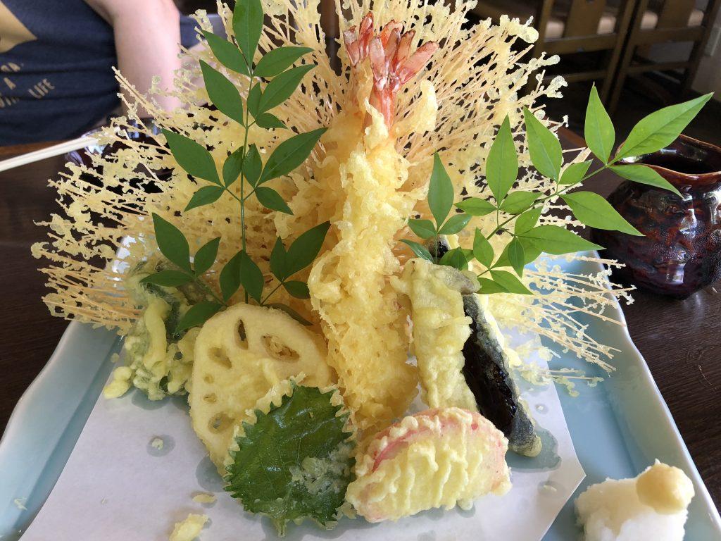 草笛の天ぷら盛り合わせ