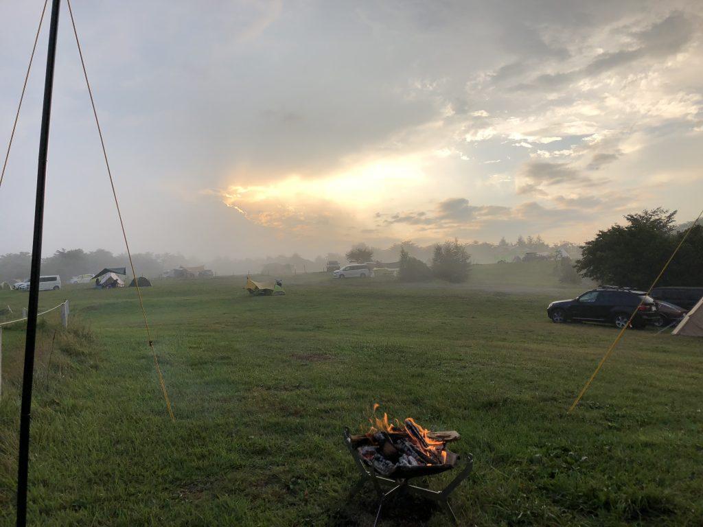 内山牧場キャンプ場8月10日夕方